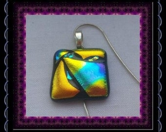 CLEARANCE..!! Vintage abstract ceramic pendant