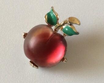 Apple Brooch /Pin Looks Like Jelly Belly