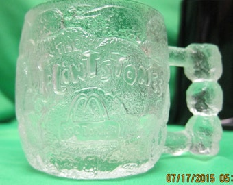 Flintstones Clear Glass Mug Rocky Road
