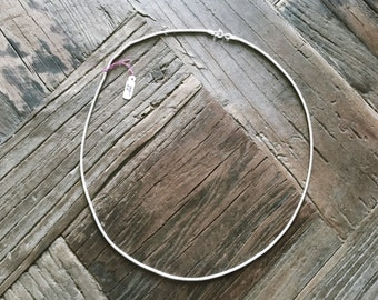 "Vintage 1980's Silver 22"" Snake Chain Necklace"