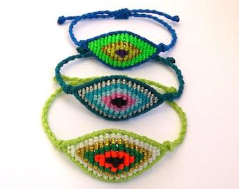 Macrame Bracelet, Evil Eye Macrame Bracelet, Evil Eye Bracelet