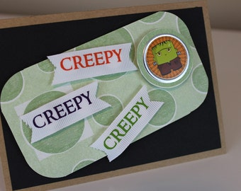 Handmade - Frankenstein Halloween Card