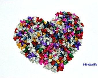 365pcs Assorted Colors Mini Size 3D Origami Hearts LOVE. (4D Glittering paper series). #FOH-104.