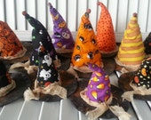 Witch Hat Bowl Filler - Primitive Witch Hats - Handmade Witch Hats - Halloween Witch Hats - Witch Hats Bowl Filler - Fall Witch Hats