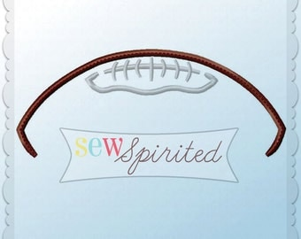 Football Arch Embroidery Design