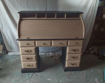Distressed/shabby chic roll top desk-must see!