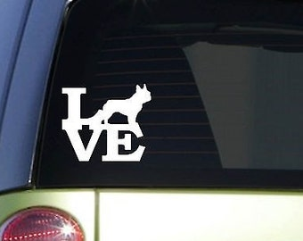 "Frenchie Love 6"" Sticker *F150* Decal French Bulldog Frenchy"