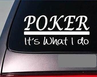 Poker Sticker Decal *E358* Cards Texas Vegas Hold Em Gamble Casino Full House