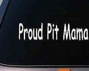Proud Pit Mama Sticker Funny Car Decal Window Laptop