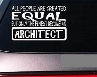 "Architect Equal Sticker *G598* 8"" Viny Builder Contruction Hat Drafting Table"