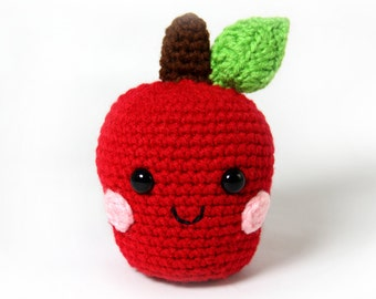 PATTERN: Apple Amigurumi Crochet Pattern - PDF Digital Download