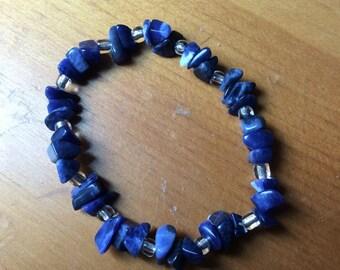 Polished Solidite Stone Chip Bracelet