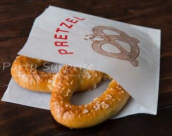 50 Pretzel Bags, Pretzel party bags, Pretzel snack bags, Pretzel lunchbox bags, Food bags,