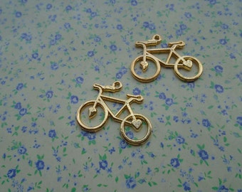 20 pcs of gold color metal bicycle pendant charm , 30*24mm , MP37