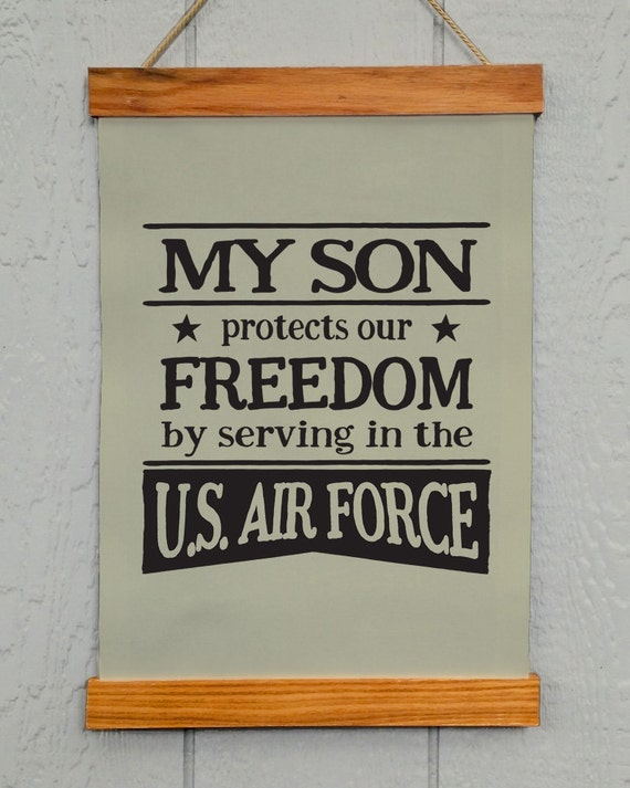 Air Force Wall Decor Military My Son Protects Our Freedom By