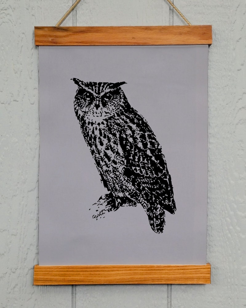 Wall Decoration Cloth : Owl wall decor printed on duck cloth