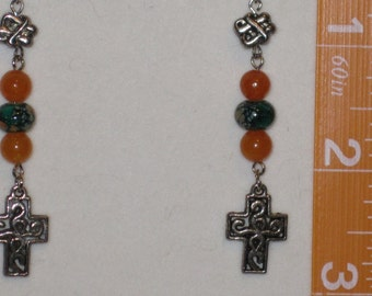 Celtic Knot and Celtic Cross Earrings