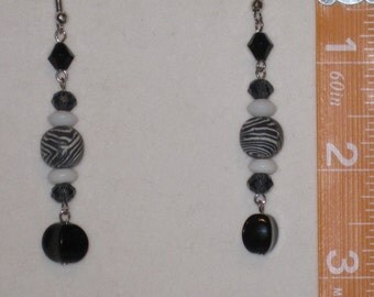 Zebra Bead Earrings