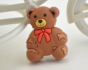 Kids Dresser Pulls Drawer Pull Handles Knobs Cute Bear Childrens Cabinet Handle Pull Knob Colorful Hardware Decorative