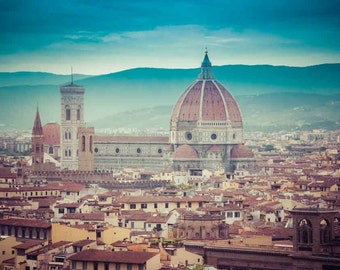 Italy Photography - Fine Art Photography - Italy Decor - Florence - Italy - City View - Cathedral - Street - Italy Wall Print - Home Decor