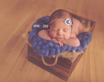 Prop Mini Blanket, Newborn blanket, Wool blanket, Wicker blanket, Basket Stuffer, Photo prop,  hand-woven blanket