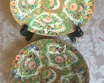 A Pair of Chinese Export 1890's Rose Medallion China Plate