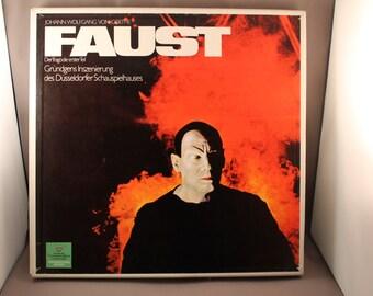 FAUST Johann Wolfgang von Goethe German Theather Classic The Tragedy Part 1 Gustaf Gründgens Mephisto 3 vinyl Record LP Box Booklet Complete