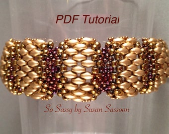 Flat Cellini Bracelet with SuperDuos Tutorial