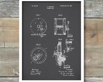 Patent Print, Fishing Reel Poster, Fishing Reel Patent, Fishing Reel Print, Fishing Art, Fishing Reel Decor, Fishing Reel Blueprint P131