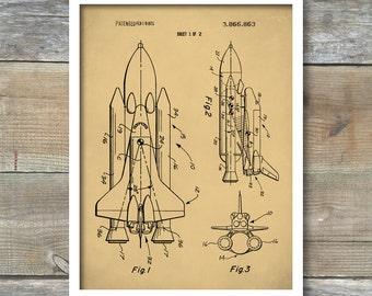 Patent Print, NASA Space Shuttle Poster, NASA Space Shuttle Patent, NASA Space Shuttle Print, Space Shuttle Art, Space Shuttle Décor, P103