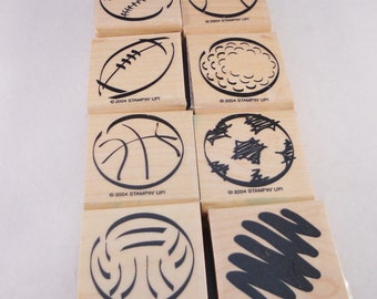 Stampin' Up!  8 piece stamp set gently used.