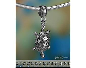 Turtle or Tortoise Charm or European Charm Bracelet Sterling Silver