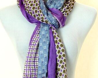 Geometric Print Scarf (Purple)