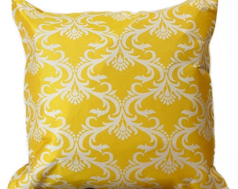 """Damask Throw Pillow Covers, 18"""" X 18"""", Set of 2"""