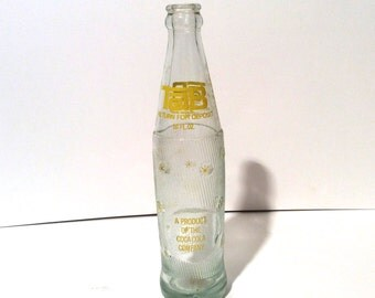 Vintage Mid Century Modern TAB Diet Cola Bottle, Clean and Collectible