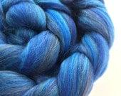 Sapphire Isles - custom blended roving for spinning or felting merino BFL bamboo 100g