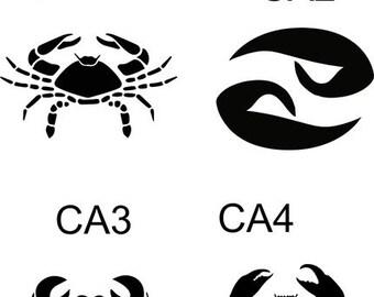 "Cancer Zodiac Decal 3"""