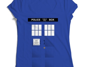 Police Box Women's Blue T-Shirt