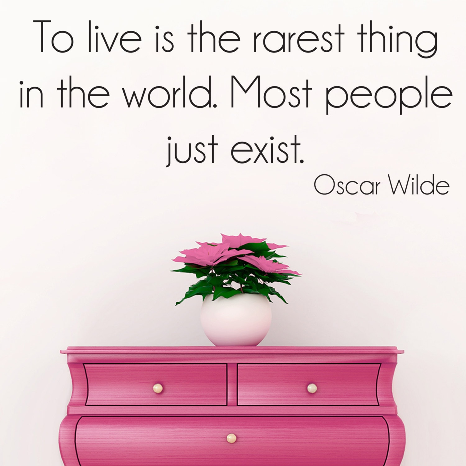 Oscar wilde wall quote decal sticker art home decoration for Art and decoration oscar wilde