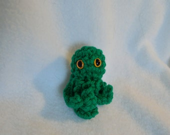 Green Mini squid/octopus amigurumi