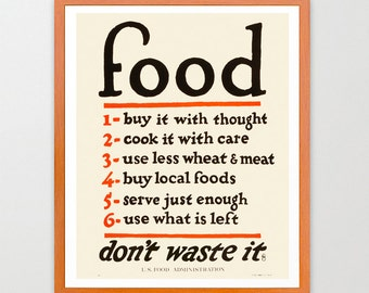 WPA Food Poster - Food Art - WPA Poster - WPA Art - Kitchen Poster - Kitchen Wall Art - Kitchen Decor - Kitchen Print - Minimal Kitchen Art