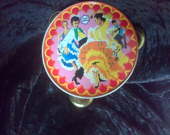 Vintage Chad Valley Tinplate Toy Tambourine - Collectable