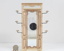 """Miniature 1:12 Scale The """"Adalicia Store"""" Mirror Unit For Doll House-Unfinished"""