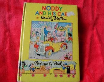 Vintage Book Noddy and his car. Enid Blyton  UK 1950's