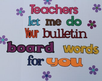 Bulletin Board Set - School - word - text