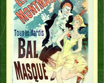 Bal Masque - Masked Ball - Chéret Jules - 1891 - Vintage French Advertising Print - SG6181
