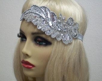1920s Headband, Flapper Headband, 1920s Headpiece, Gatsby Headband, Flapper Fashion, Vintage Inspired Flapper, 1920s Hair Accessory