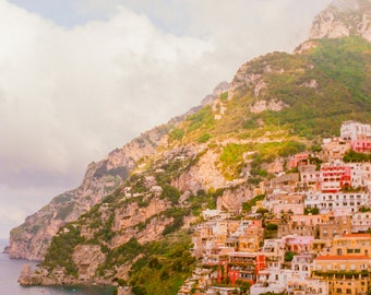 Italy Photography, Summer in Positano, Amalfi Coast, Italy, beach photography,Italian home decor, Positano Art, bedroom art, italy travel