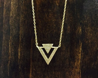 Gold Tribal Simply Stated Necklace