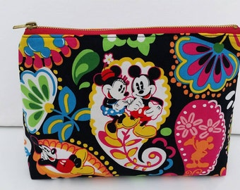 Mickey Mouse Zipper Pouch, Cosmetic Bag, Makeup Bag